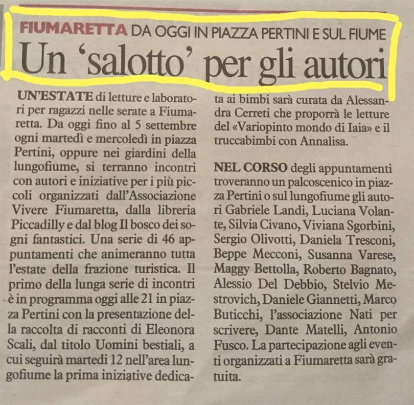 Silvia Civano a Fiumaretta con Le avventure di Posso